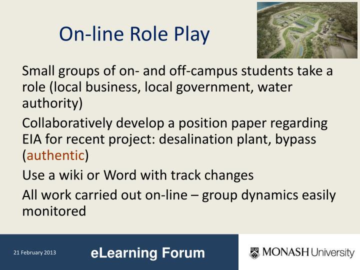 On-line Role Play