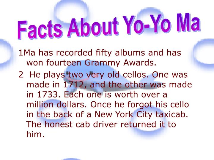 Facts About Yo-Yo Ma