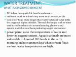 water treatment what is dissolved oxygen