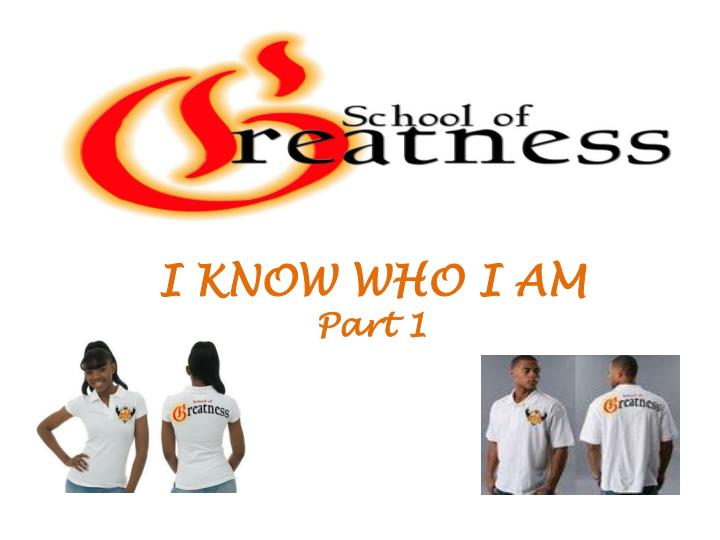 i know who i am part 1 n.