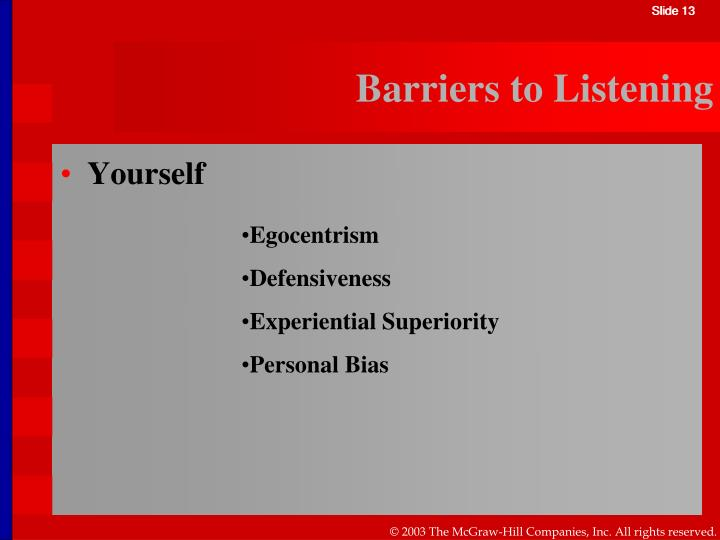environmental barriers if listening How to overcome noise barriers in  multi-syllabic words are distorted by the noise in the environment  why is distraction a barrier in listening.