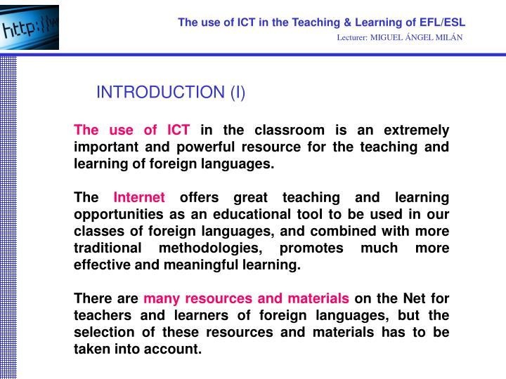 the effectiveness of using ict in