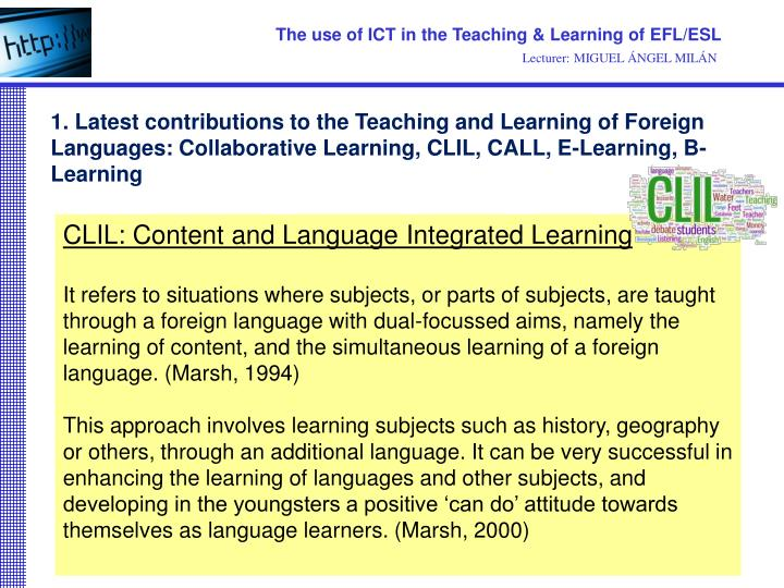 ict in language learning essay Ict in language learning- final assignment the objective of this essay is to know how the (2008)integrating ict into language  learning and.