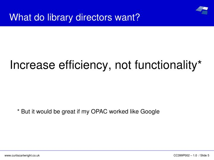 What do library directors want?