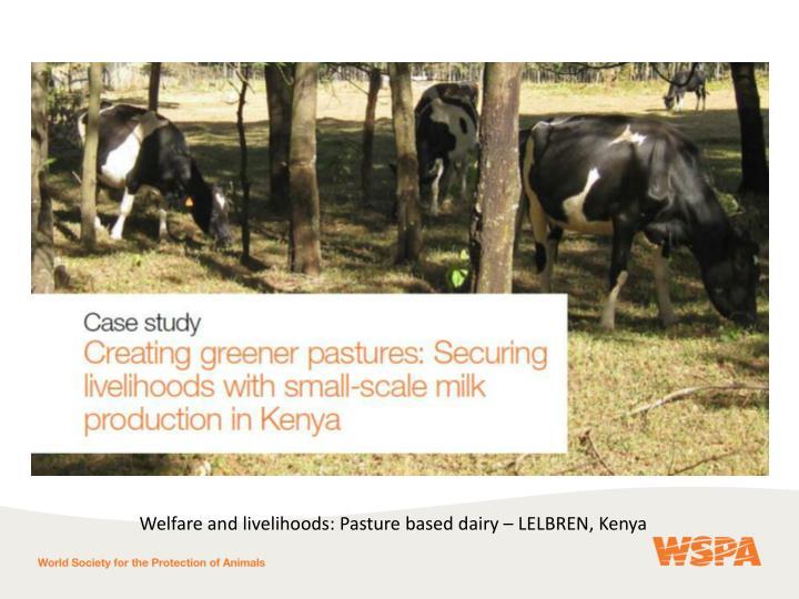 Welfare and livelihoods: Pasture