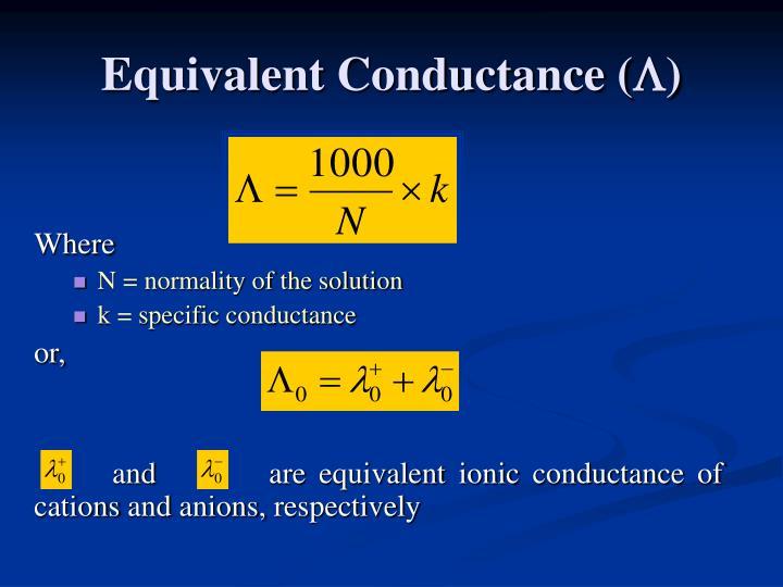 Equivalent Conductance (
