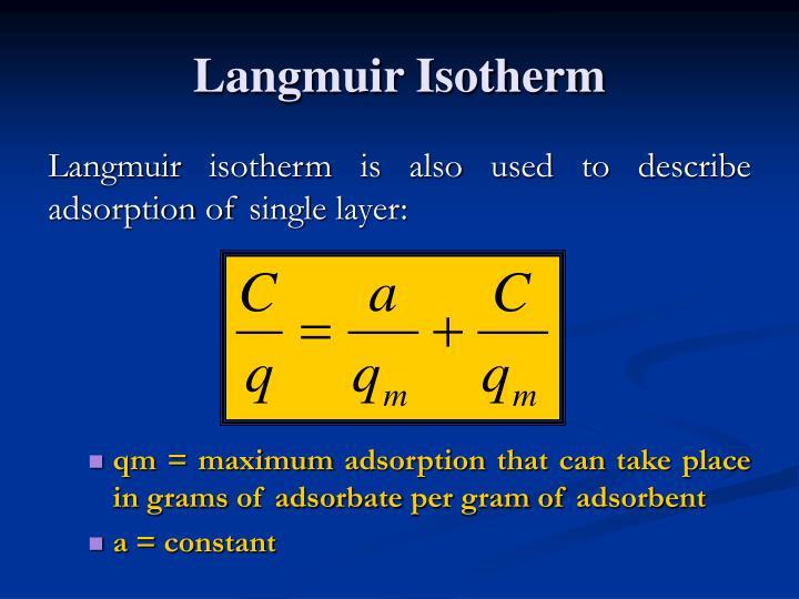 Langmuir Isotherm