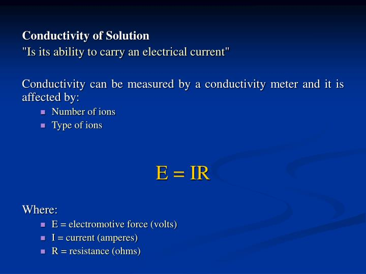 Conductivity of Solution