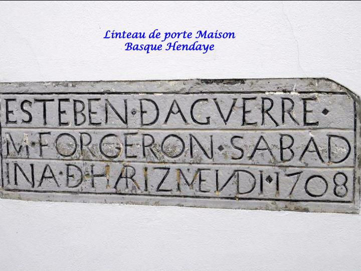 Linteau de porte Maison Basque Hendaye