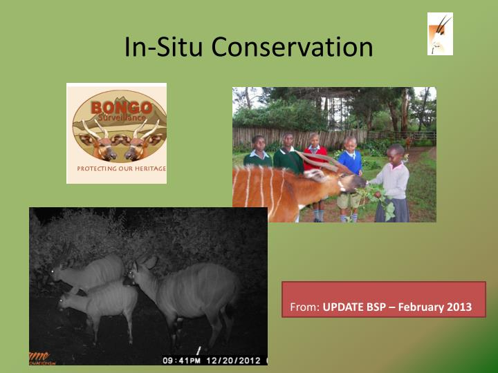 In-Situ Conservation