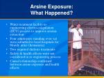 arsine exposure what happened