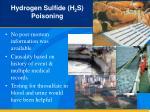 hydrogen sulfide h 2 s poisoning