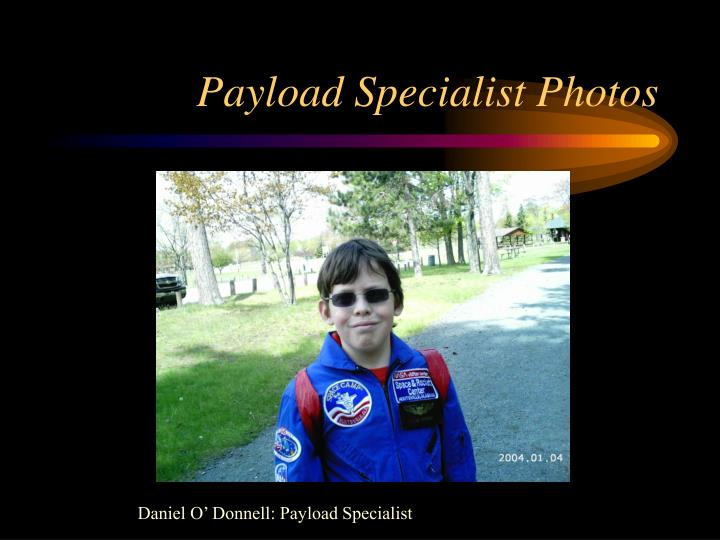Payload specialist photos