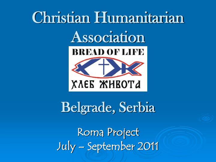Christian Humanitarian Association