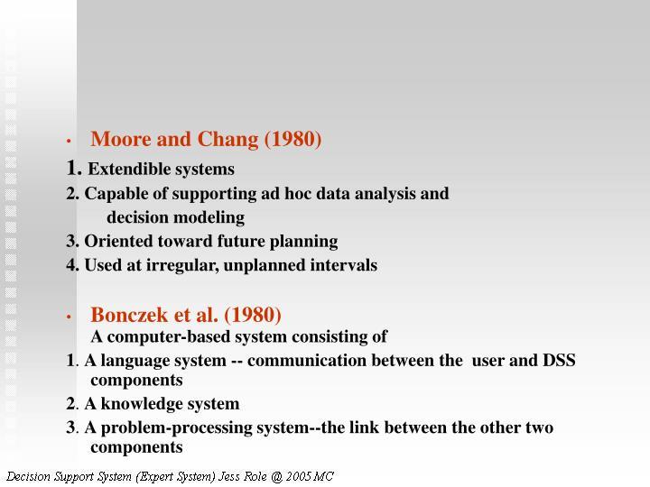 Moore and Chang (1980)