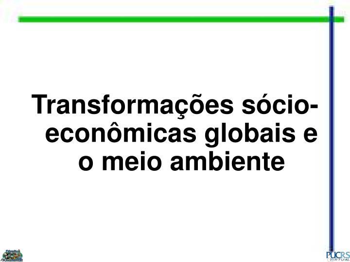 Transformações sócio-econômicas globais e o meio ambiente