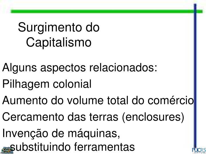 Surgimento do Capitalismo