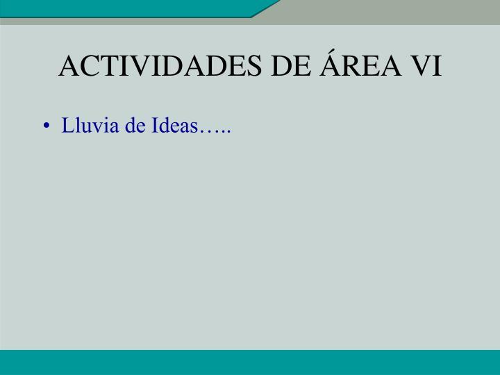 ACTIVIDADES DE ÁREA