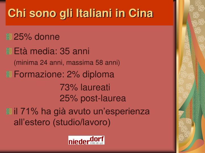 Chi sono gli Italiani in Cina