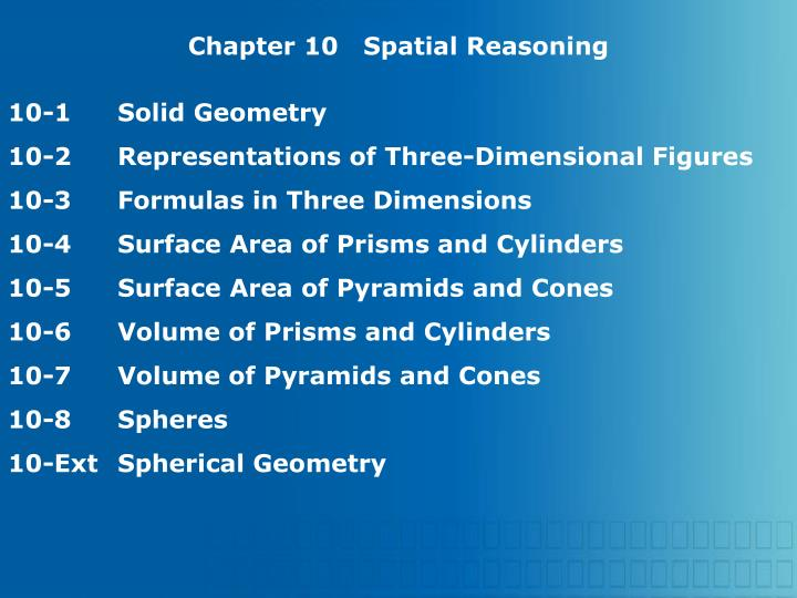 Chapter 10   Spatial Reasoning