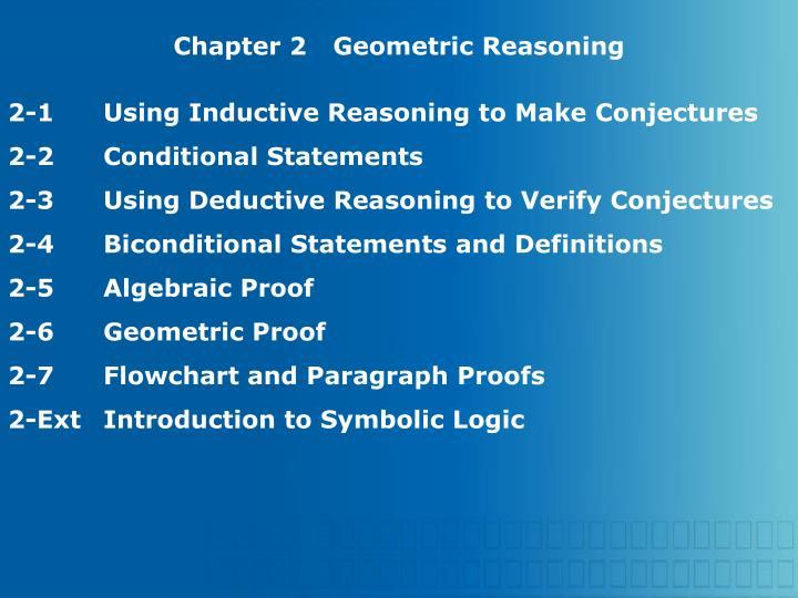 Chapter 2Geometric Reasoning