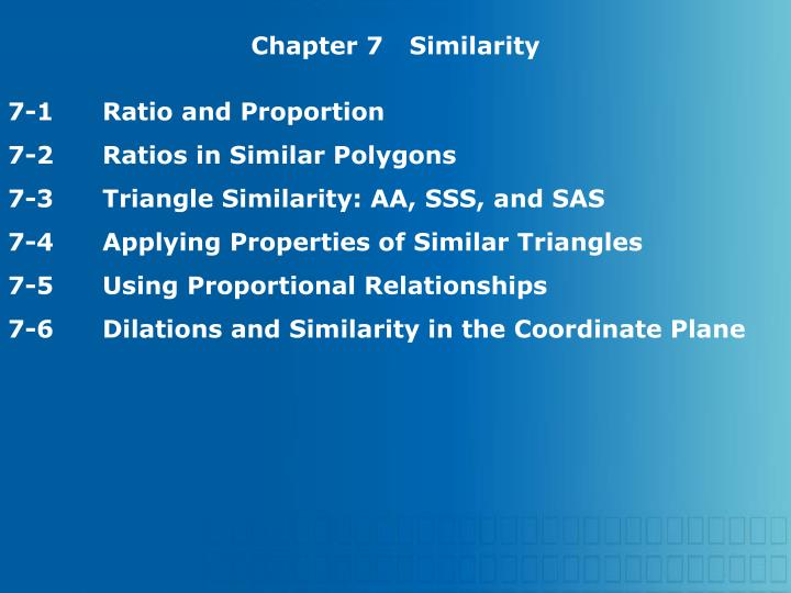 Chapter 7Similarity