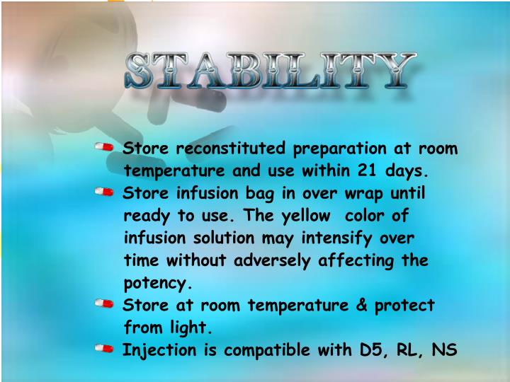 Store reconstituted preparation at room