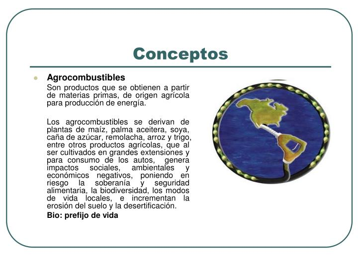 Agrocombustibles