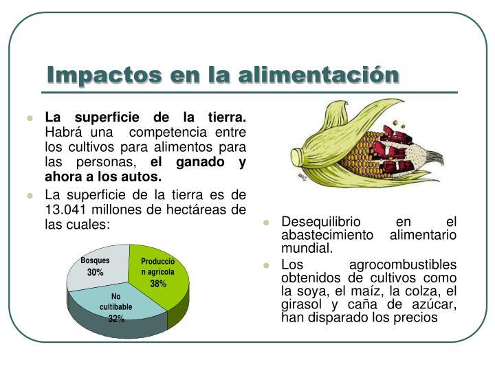 Impactos en la alimentación