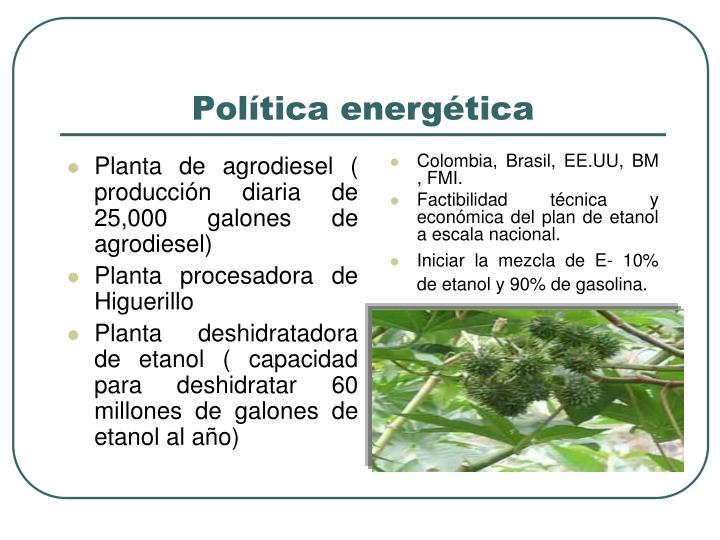 Planta de agrodiesel ( producción diaria de 25,000 galones de agrodiesel)