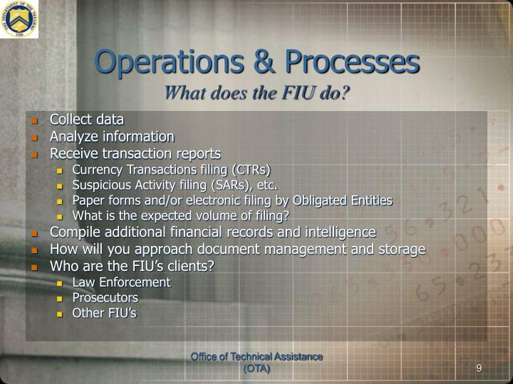 Operations & Processes