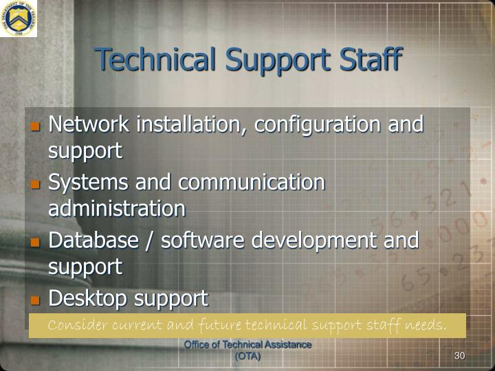 Technical Support Staff