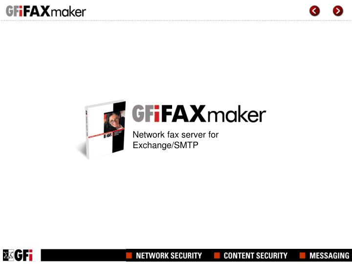 network fax server for exchange smtp n.