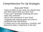 comprehension fix up strategies1