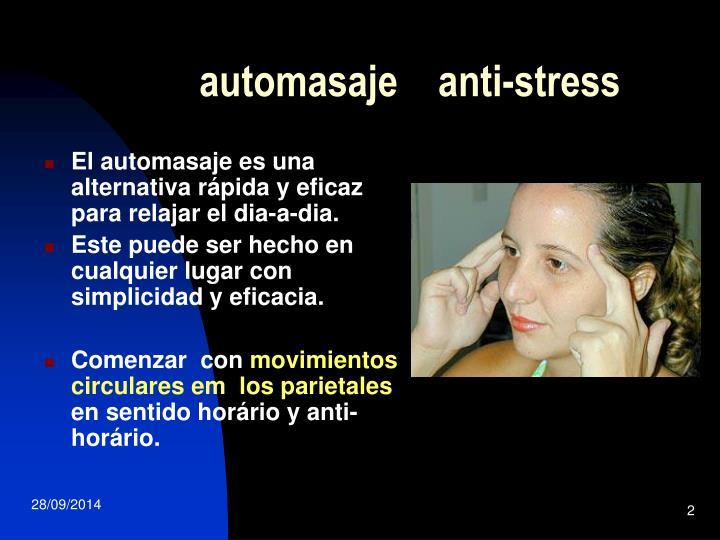 Automasaje anti stress