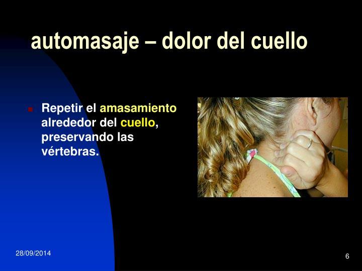 automasaje – dolor del cuello