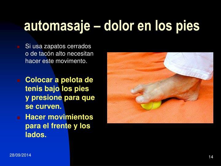automasaje – dolor en los pies