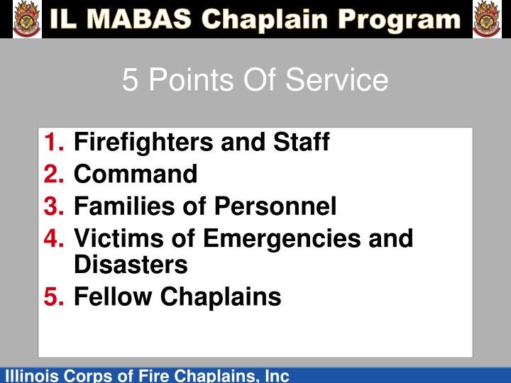 5 Points Of Service