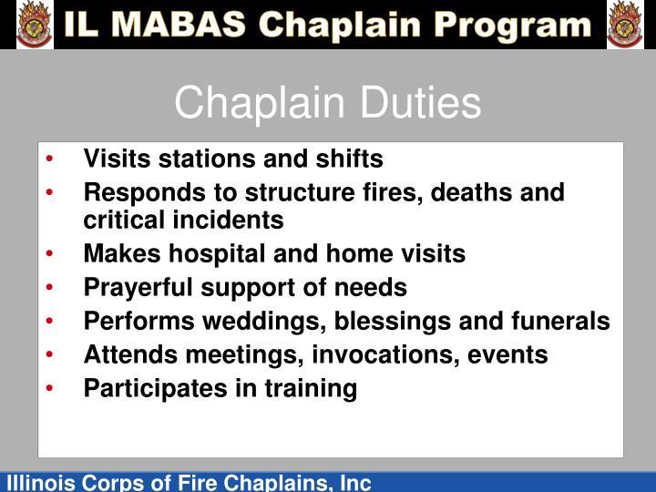 Chaplain Duties