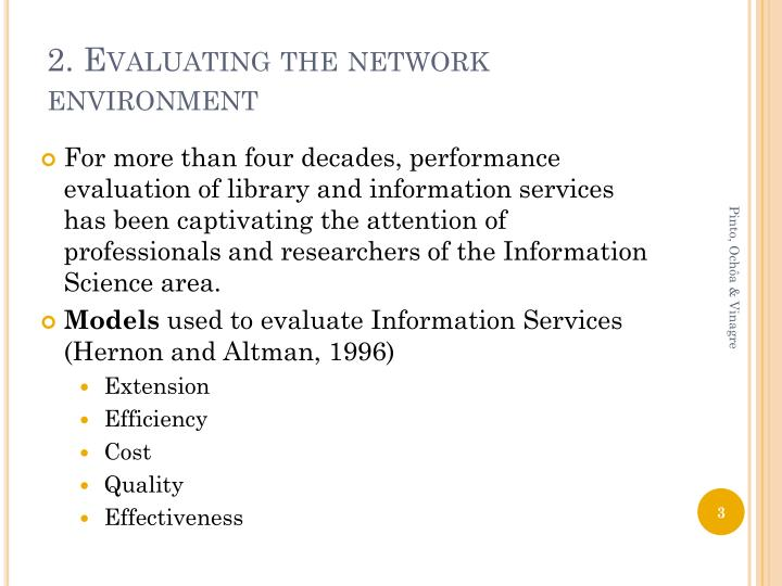 2 evaluating the network environment
