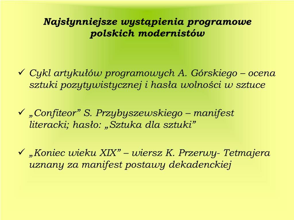 Ppt Młoda Polska Powerpoint Presentation Free Download
