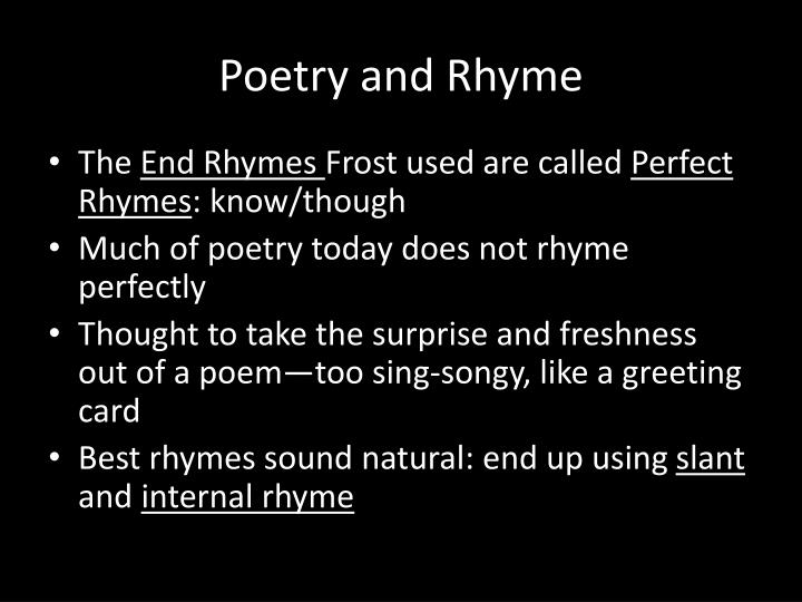 Poetry and Rhyme
