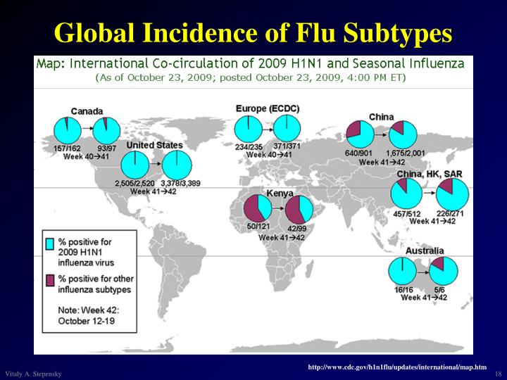 Global Incidence of Flu Subtypes