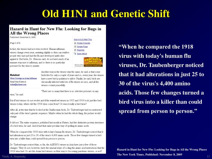 Old H1N1 and Genetic Shift
