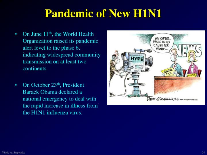 Pandemic of New H1N1