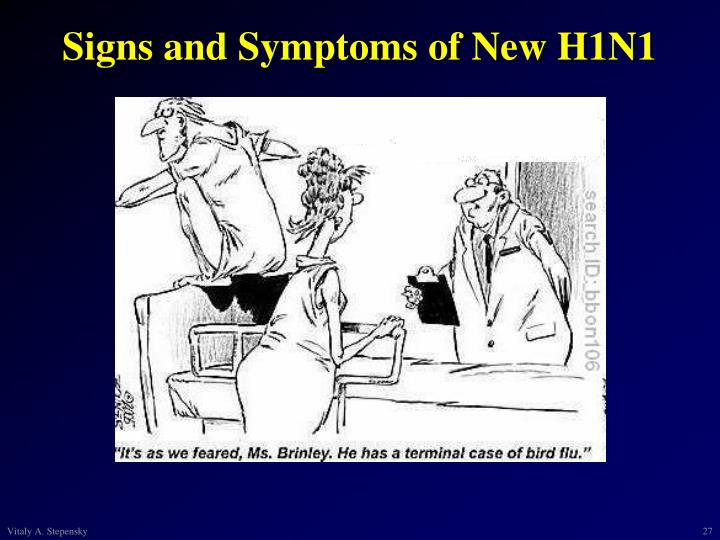 Signs and Symptoms of New H1N1