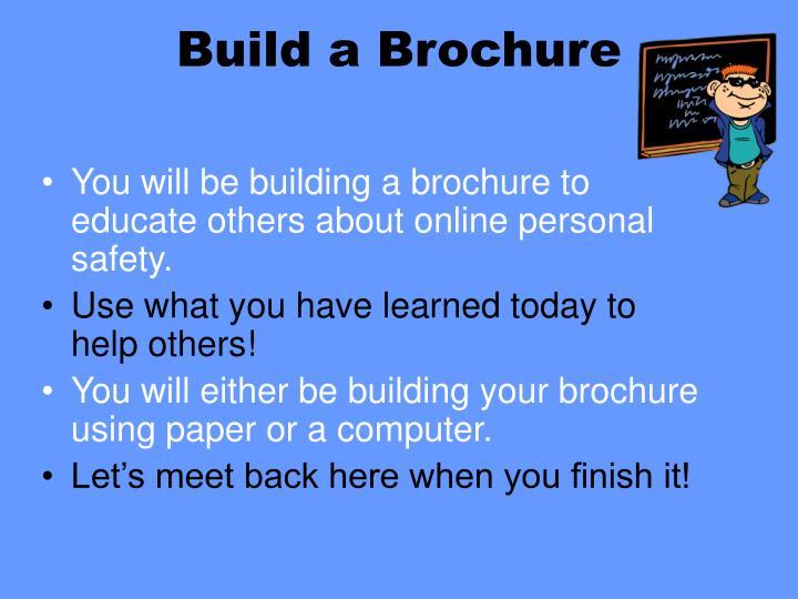 Build a Brochure