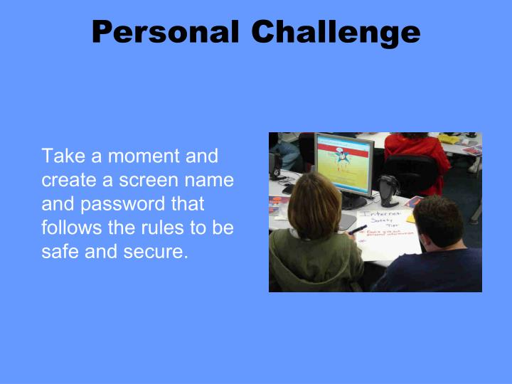 Personal Challenge