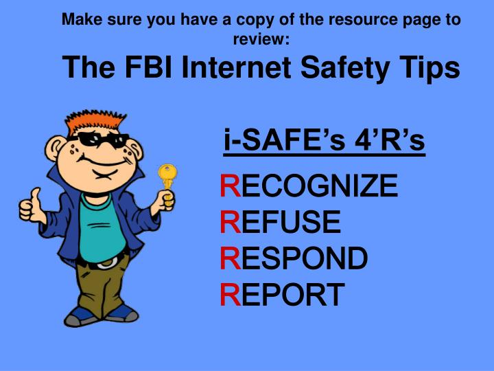 Make sure you have a copy of the resource page to review:
