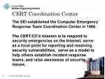 cert coordination center